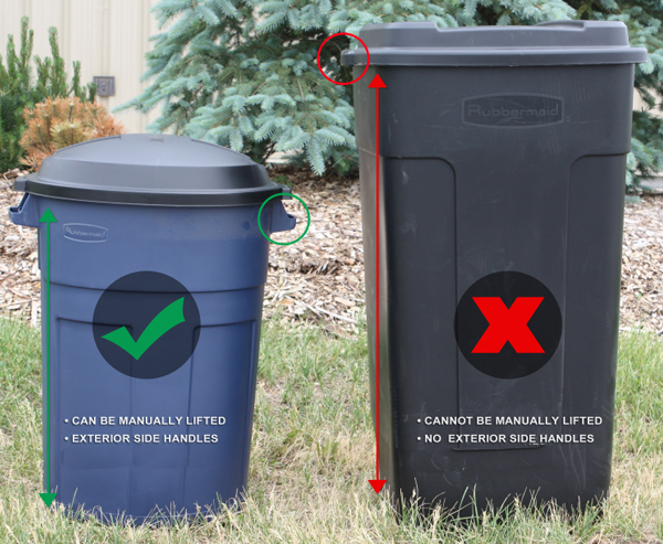 Acceptable Garbage Bins